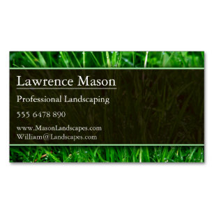 Gardener Landscaping Magnetic Business Card