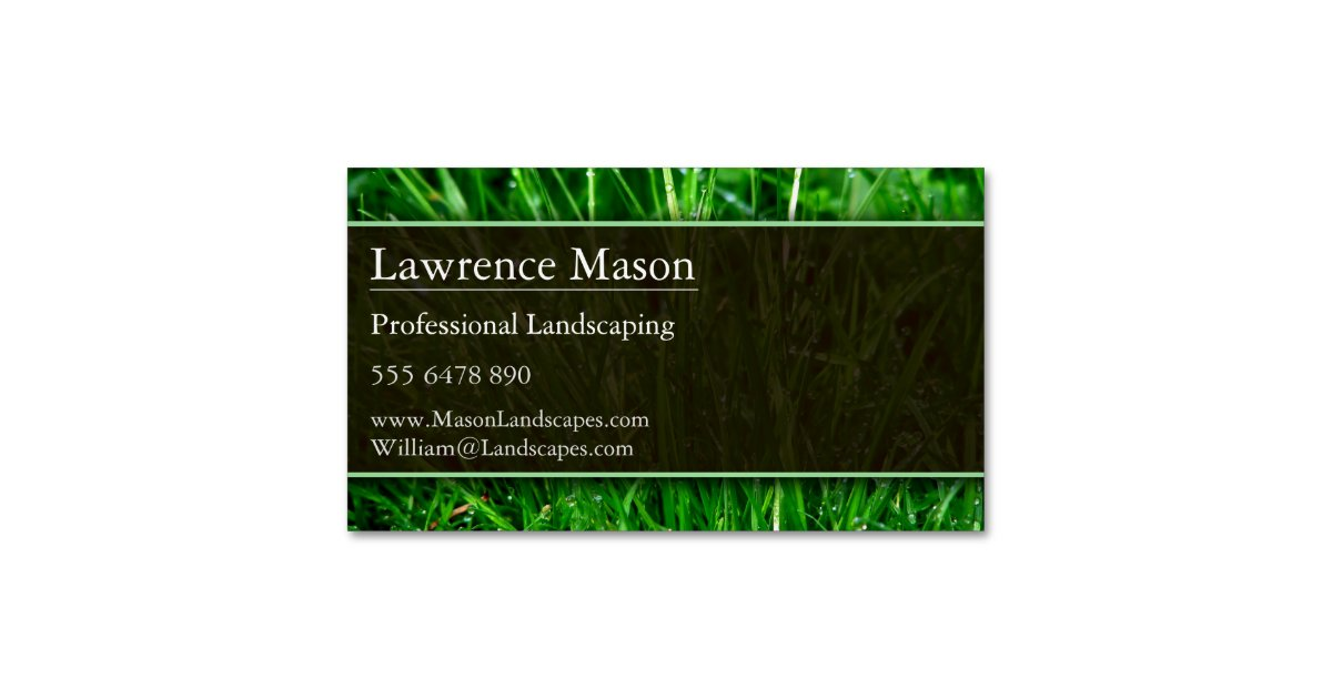 Gardener / Landscaping Magnetic Business Card | Zazzle.com
