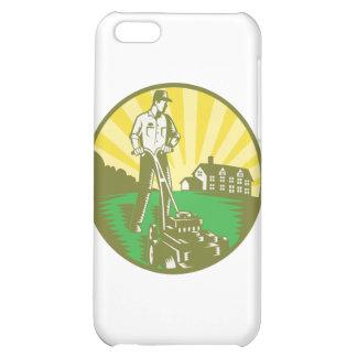 Gardener Mowing Lawn Mower Retro Cover For iPhone 5C