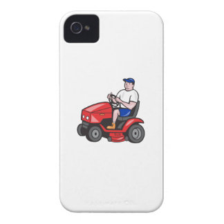 Gardener Mowing Rideon Lawn Mower Cartoon Blackberry Cases