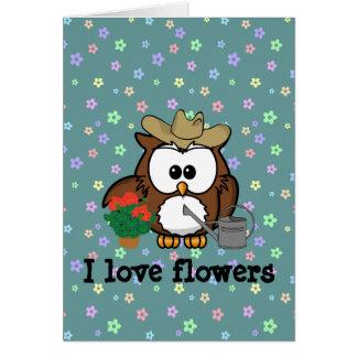 gardener owl card