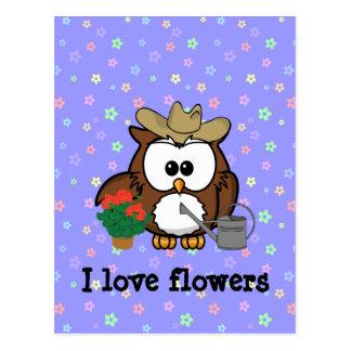 gardener owl postcard