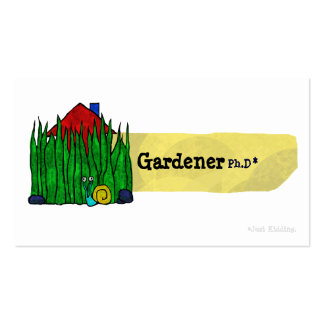 Gardener Ph.D Business Card