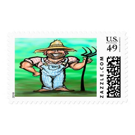 Gardener Postage Stamp