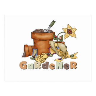 Gardener Tshirts and Gifts Postcard