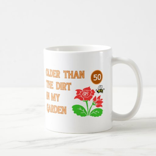 For men turning 50 years old gifts t shirts art for Gardening gifts for men