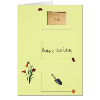 Gardener's Birthday Card