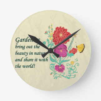 Gardener's Bring out the Beauty in Nature Clock