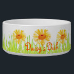 """Gardener&#39;s Delight Bowl<br><div class=""""desc"""">You pet will love this colorful dish made just for them! Add their name,  or custom text,  or remove for a simple flower design.</div>"""