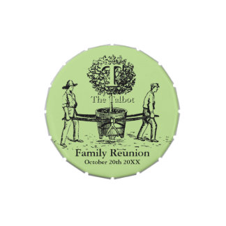 Gardeners Family Reunion CandyTin with custom Name Jelly Belly Tins