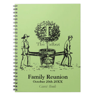 Gardeners Family Reunion Guest Book custom Name Spiral Notebook