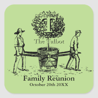 Gardeners Family Reunion Sticker with custom Name