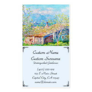 Gardener's House at Antibes Claude Monet Double-Sided Standard Business Cards (Pack Of 100)