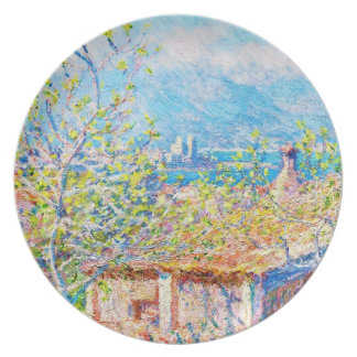Gardener's House at Antibes Claude Monet Party Plate