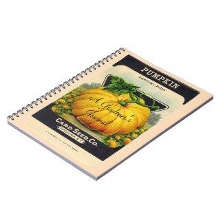 Gardener's Journal vintage pumpkin seed custom