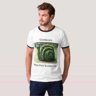 Gardeners keep their bushes tidy Topiary tee shirt