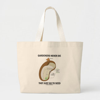 Gardeners Never Die They Just Go To Seed Bag