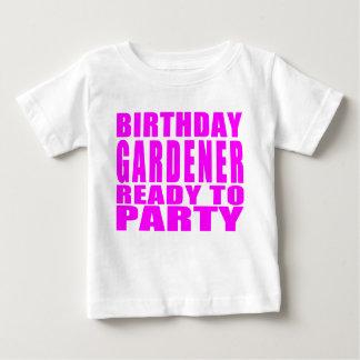 Gardeners : Pink Birthday Gardener Ready to Party Baby T-Shirt