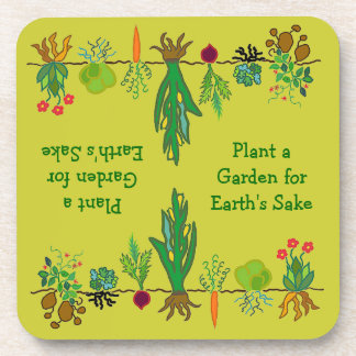 gardeners veggie patch coaster