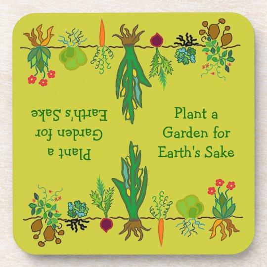 gardeners veggie patch coaster