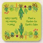 gardeners veggie patch drink coasters
