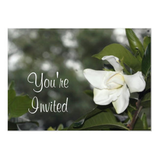 """Gardenia Background Invitation 5"""" X 7"""" Invitation Card"""