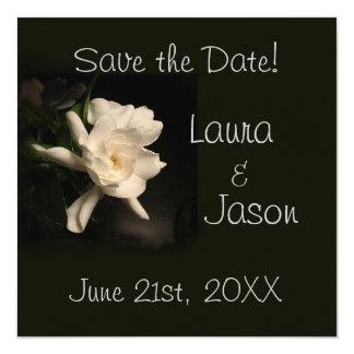 """Gardenia blanco """"reserva tarjeta del cuadrado de invitación"""