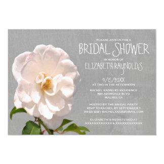 "Gardenia Bridal Shower Invitations 5"" X 7"" Invitation Card"