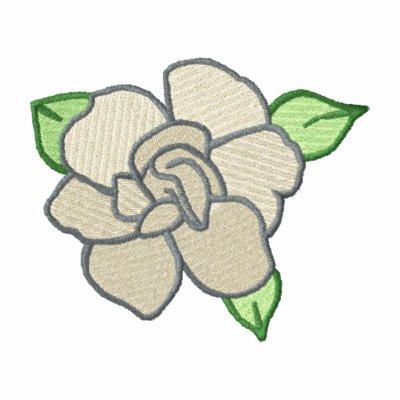 Gardenia Camiseta Polo Bordada