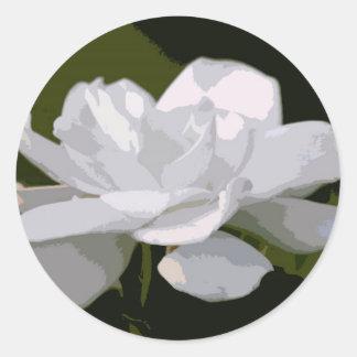 Gardenia Elegance Round Stickers