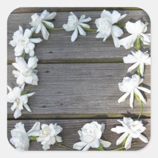gardenia frame sticker
