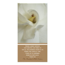Gardenia Sympathy Memorial Thank You Photo Card