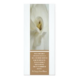 """Gardenia Sympathy Thank You Invitation Card 4"""" X 9.25"""" Invitation Card"""