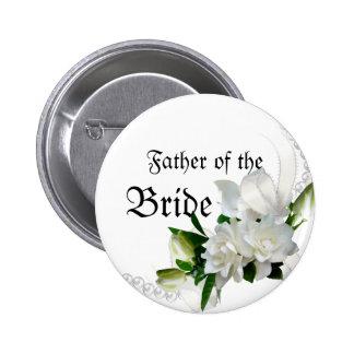Gardenias del boda pin redondo 5 cm