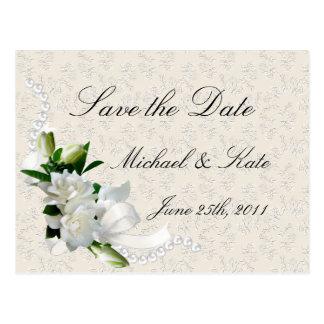 Gardenias del boda postal