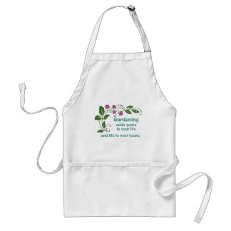 Gardening Adds Life to your Years Adult Apron