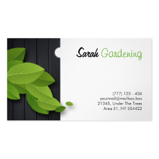 gardening, architecture, carpentry etc. card business cards