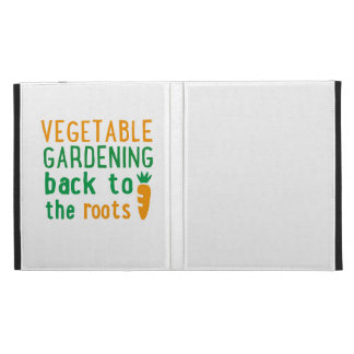 Gardening bake ton the roots iPad folio covers