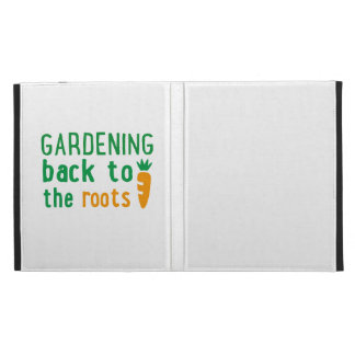 Gardening bake ton the roots iPad case