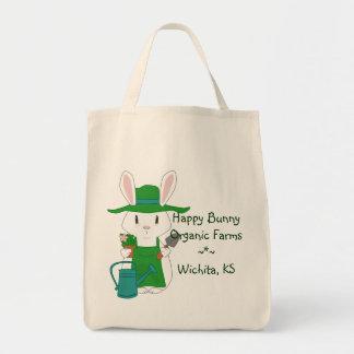 Gardening Bunny Organic Tote Bag