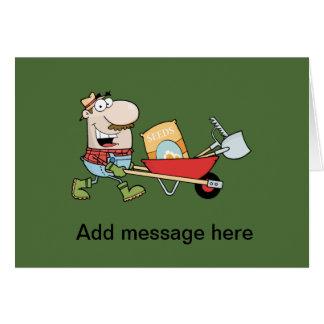 Gardening Business Customizables Funny gardener Greeting Card