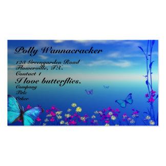 Gardening Butterflies Business Card Template