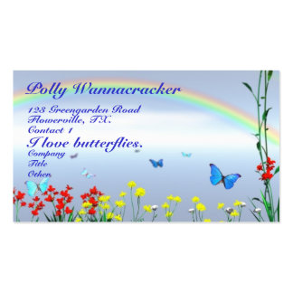 Gardening Butterflies Double-Sided Standard Business Cards (Pack Of 100)