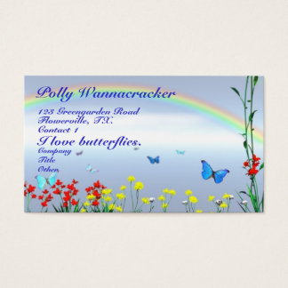 Gardening Butterflies Business Card