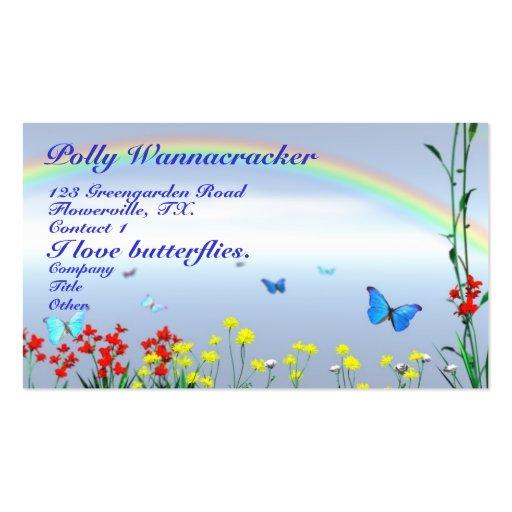 Gardening butterflies double sided standard business cards for Gardening business cards