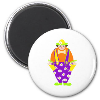 Gardening Clown Magnet