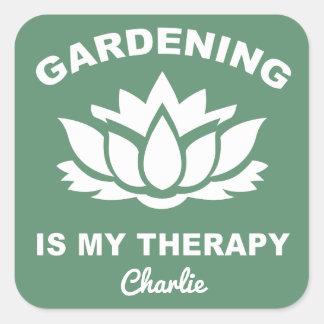 Gardening custom name & color stickers