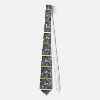 Gardening enthusiast little purple flowers photo neck tie