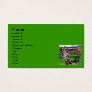 Gardening Fairy Faery Business Card