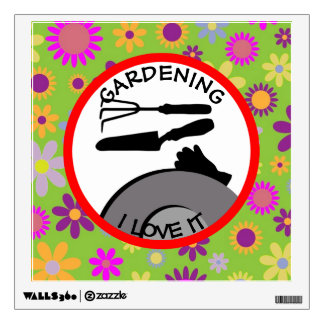 Gardening Flowers and Dreams Wall Sticker